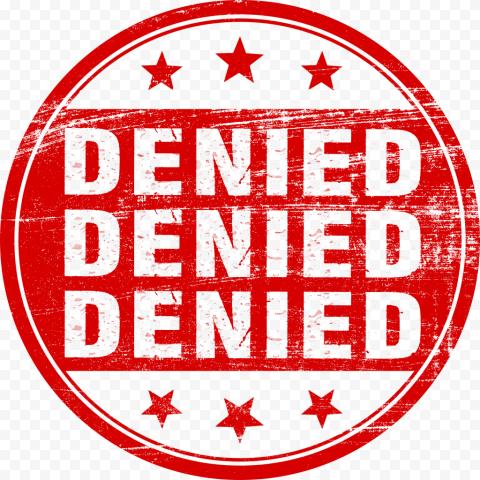 Denied Stamp Red Round