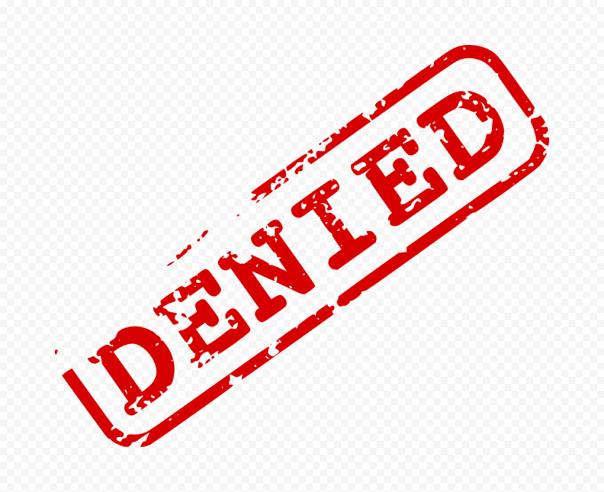 Denied Word Stamp