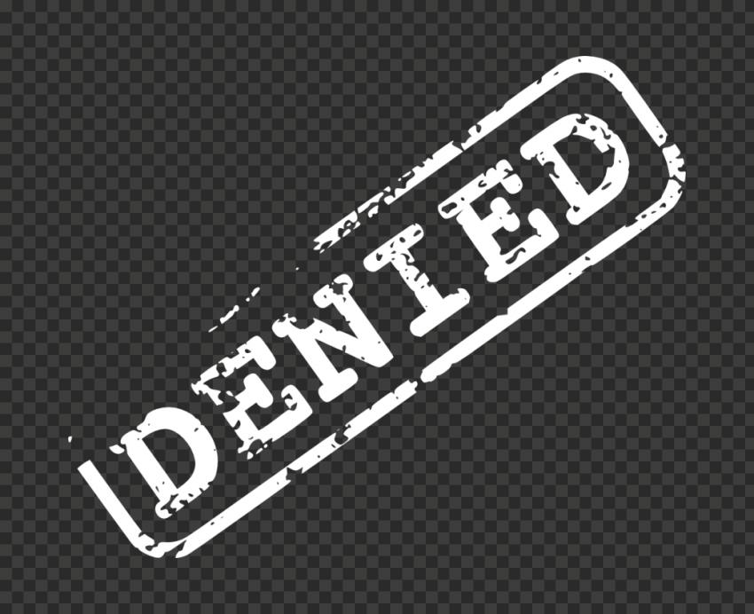White Denied Word Stamp
