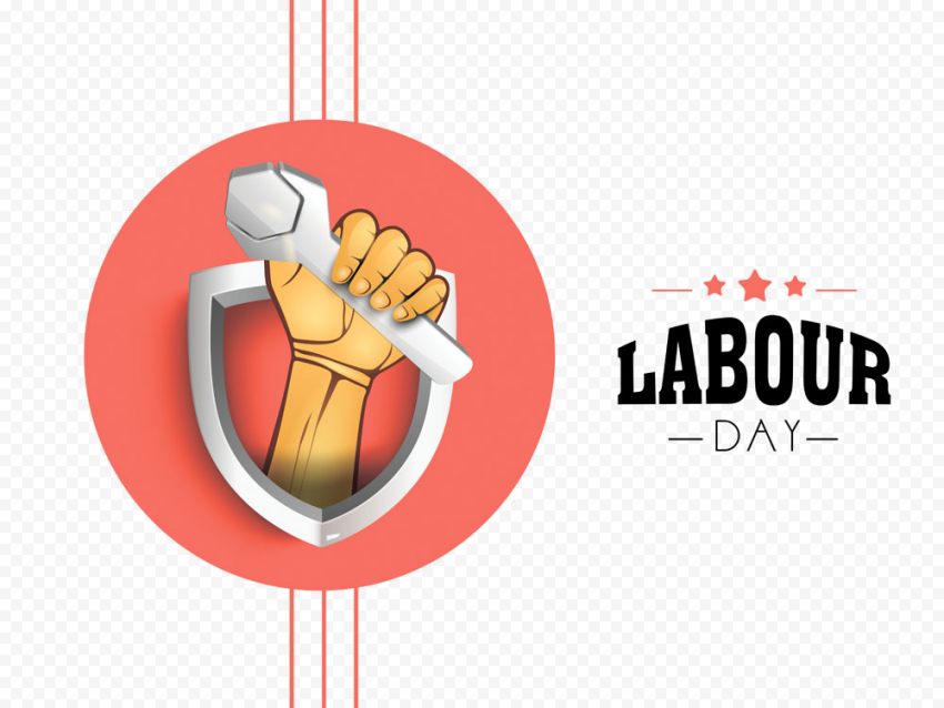 Labour Day Illustration Logo Vector