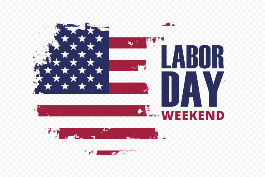 Vector Labor Day Weekend With USA Flag