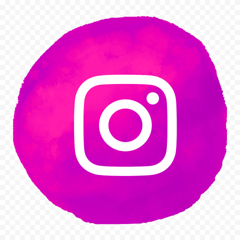 Instagram White Logo With Pink Watercolor Background