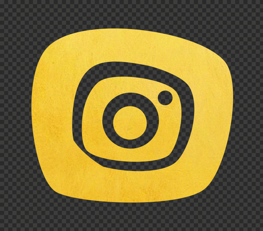 Gold Golden Yellow Instagram Clipart Icon