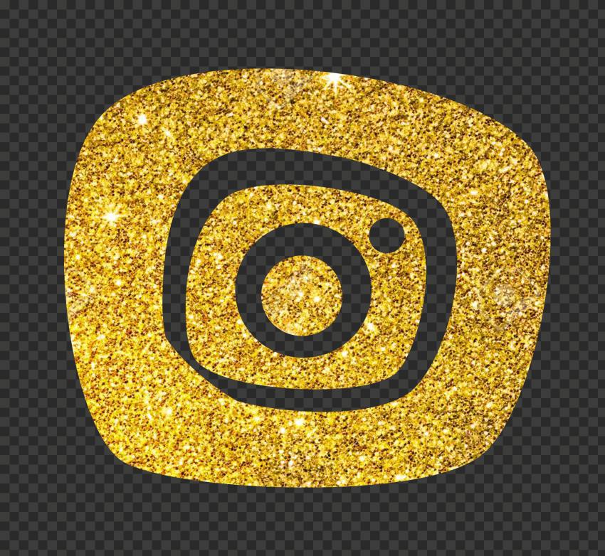 Glitter Gold Golden Instagram Clipart Icon