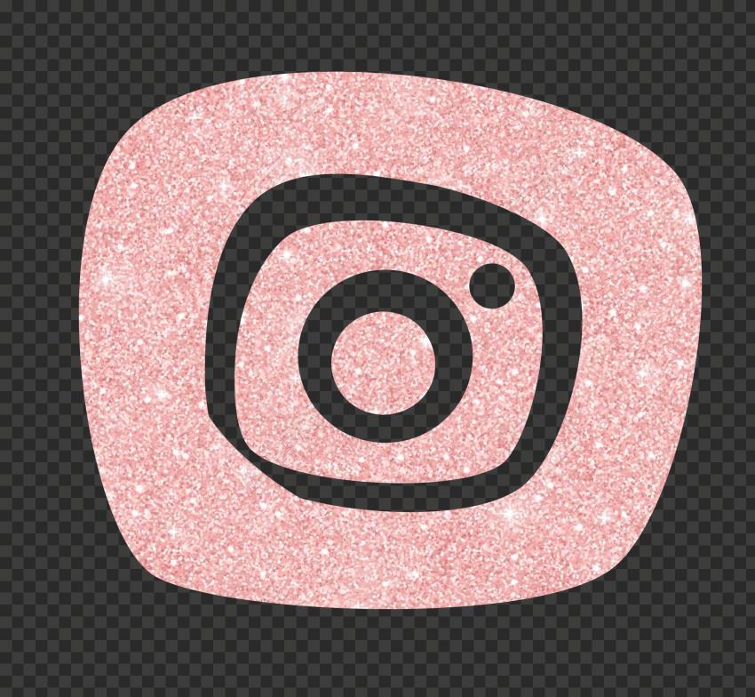 Rose Gold Glitter Instagram Clipart Icon