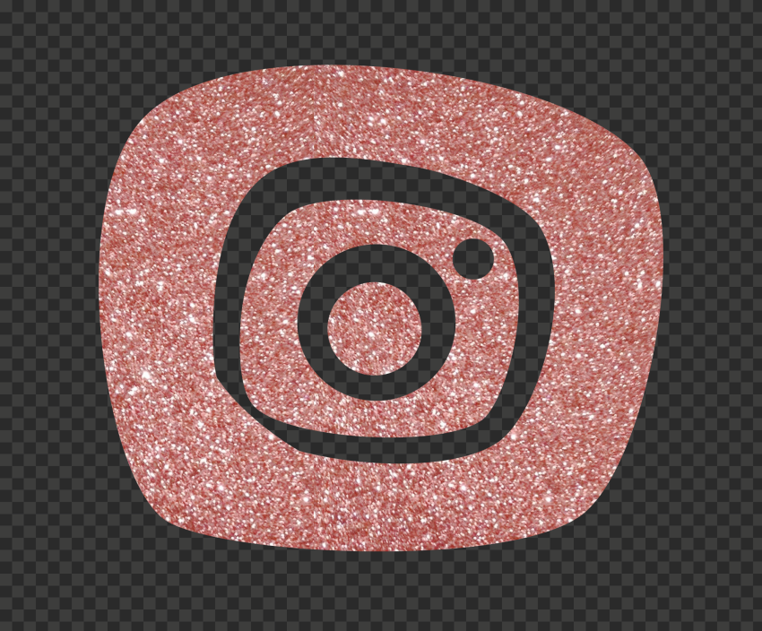 Rose Gold Glitter Instagram Icon Citypng