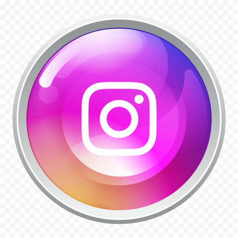 Round Instagram Social Media Button Icon
