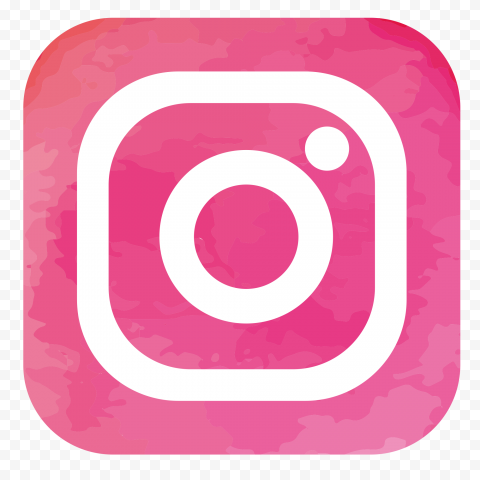 Instagram White Logo In Square Pink Watercolor Icon