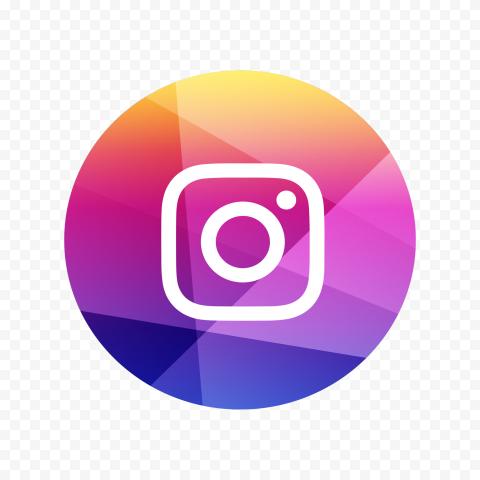 Round Instagram Social Media Triangle Pixel Icon