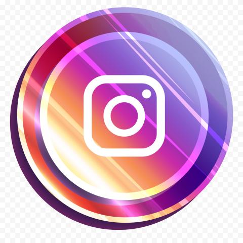 Illuminated Round Instagram Icon