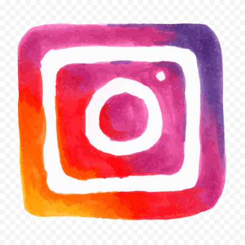Watercolor Square Instagram Logo Icon