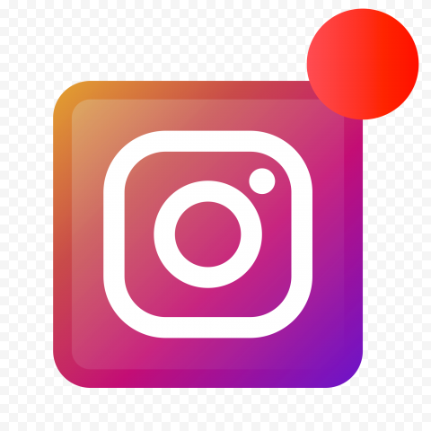 Square Instagram App Logo With Red Notification Icon
