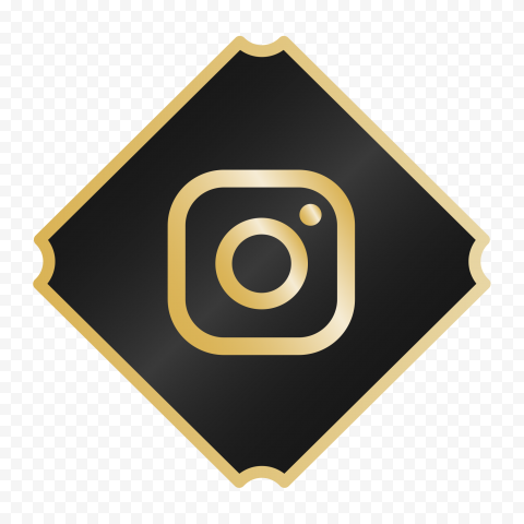 Luxury Black & Gold Instagram Logo Icon