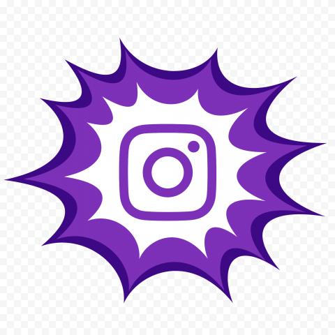 Comic Style Purple Instagram Logo Icon