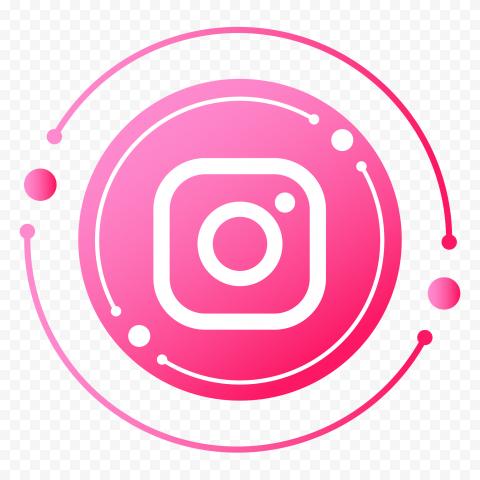 Round Circular Pink Instagram Icon