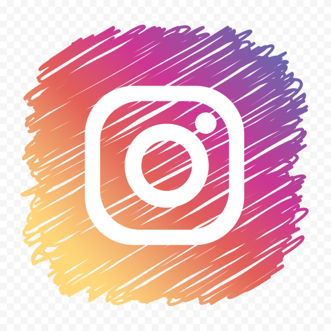 Scribble Style Square Instagram Icon