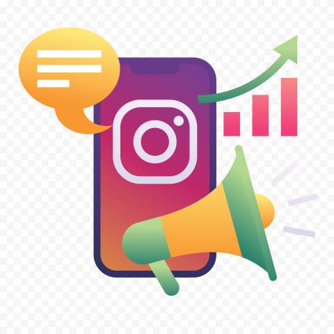 Instagram Social Media Marketing Illustration