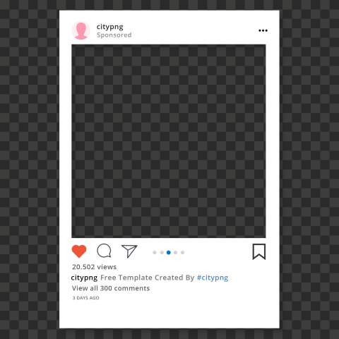 Instagram Post Sponsored Template With Shadow