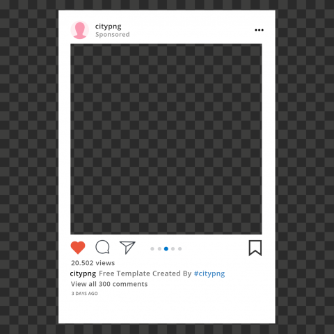 Instagram Post Sponsored Template Without Shadow