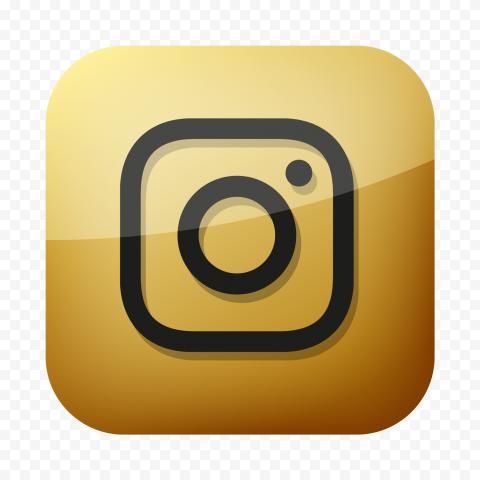 Golden Instagram Square Logo Icon