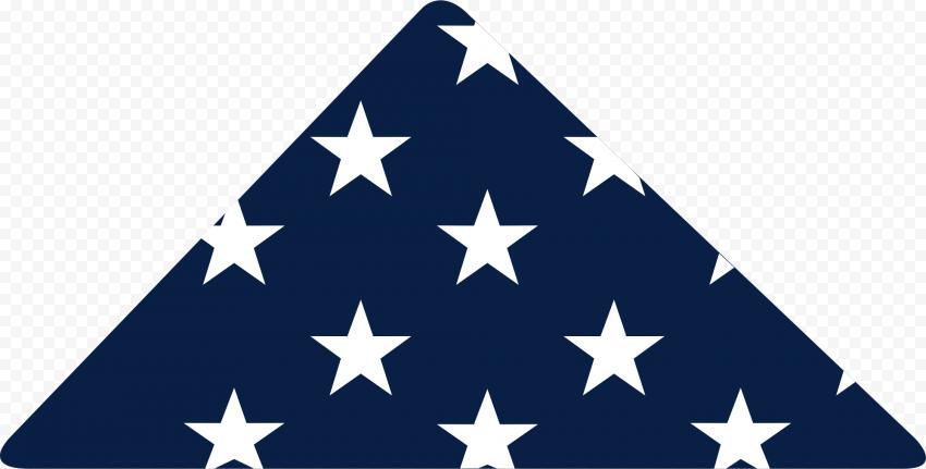Folded American USA Flag White Stars