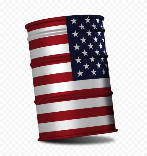 Oil Barrel With USA Flag