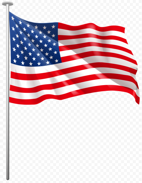 HD Waving Flag Of United States On Pole