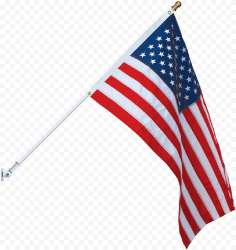 American Flag Spinning Pole With Gold Ball