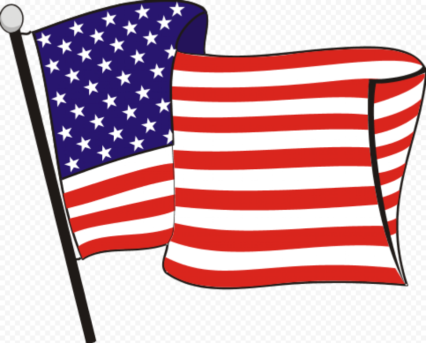 Carton Clipart Flag Of United States