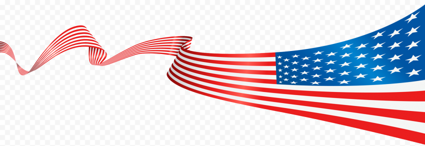 Usa American United States Flag Ribbon Pattern