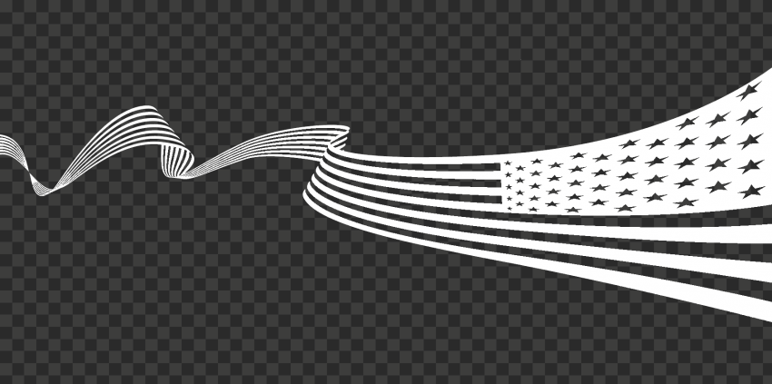 White Usa American United States Flag Ribbon Pattern