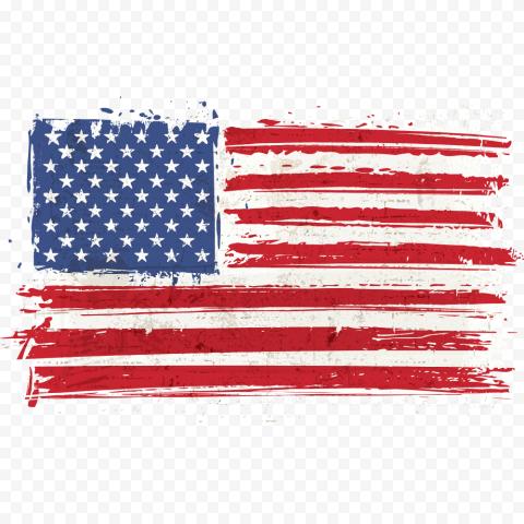 United States Us Flag Grunge Effect