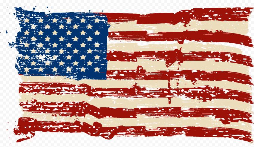HD Us American Flag Grunge Style
