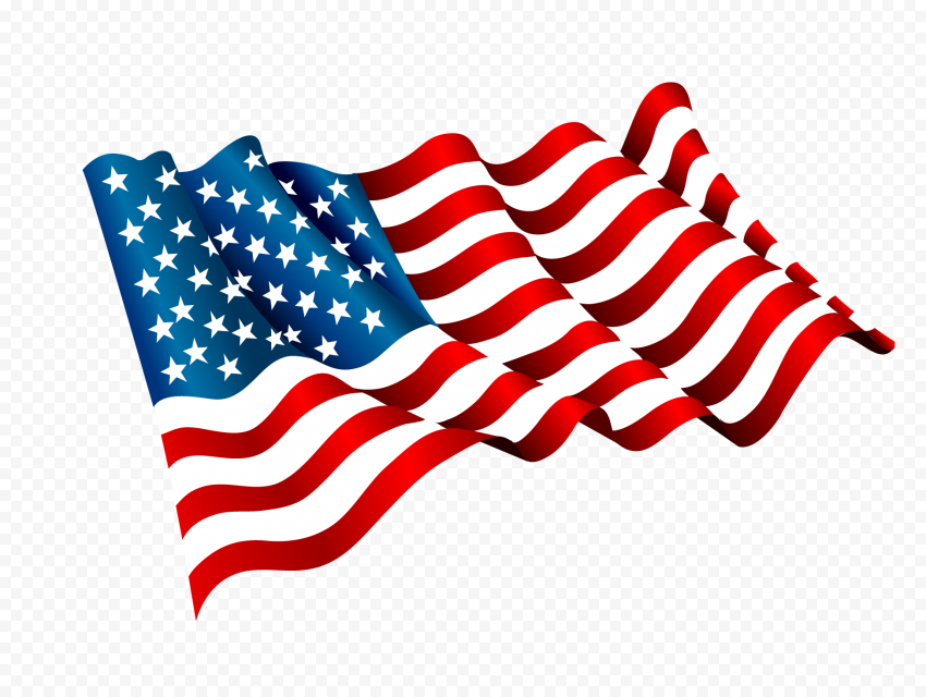 Waving High Resolution Us American Flag Illustration