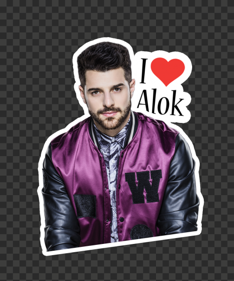I Love Dj Alok Free Fire Sticker
