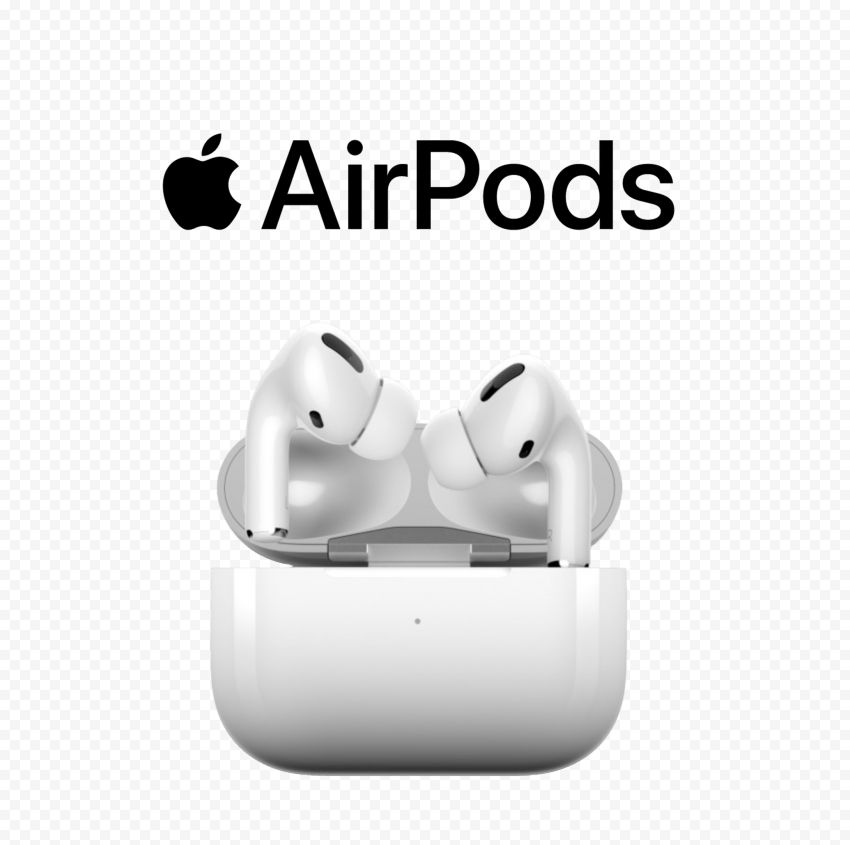 Opened Apple Airpods Pro Case With Black Logo