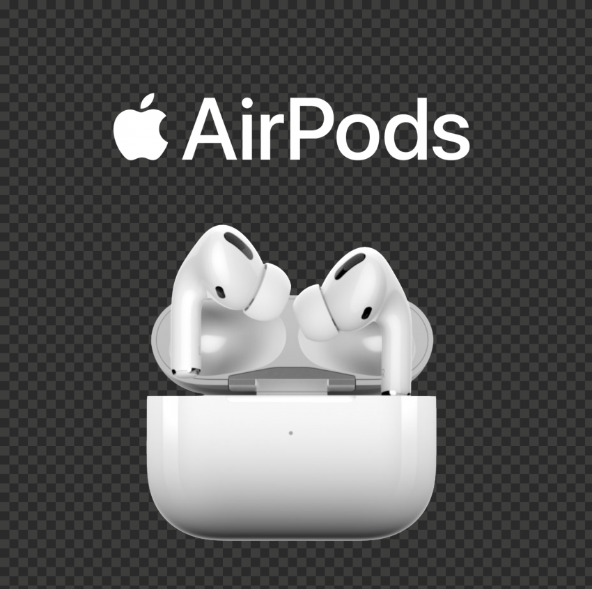 Opened Apple Airpods Pro Case With White Logo