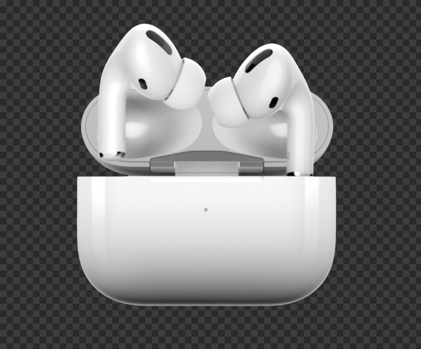 Opened Apple Airpods Pro Case Front View