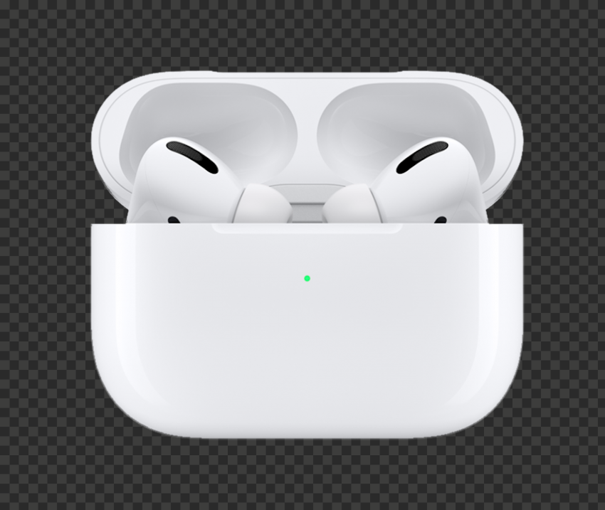 Opened Airpods Pro Apple Case Front View