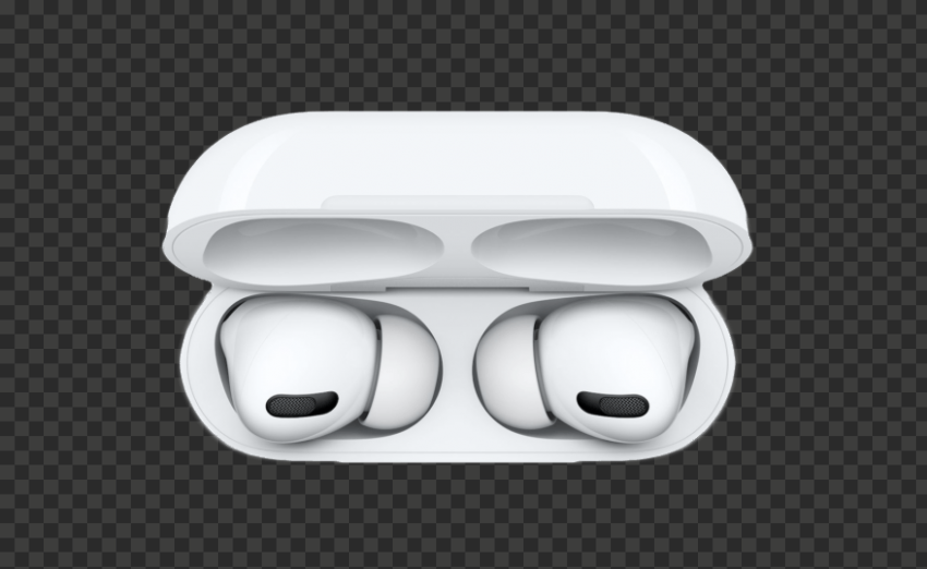 Opened Apple Airpods Pro Case Top View