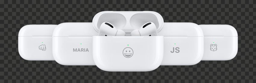 Group Of Personalized Apple Airpods Pro Cases
