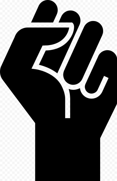 BLM Black Lives Matter Emoji Hand Silhouette