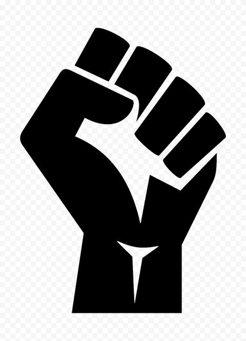 BLM Black Lives Matter Anti Racism Hand Logo