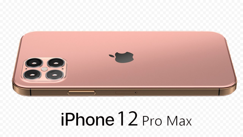 Rose Gold iPhone 12 Pro Max Side Back View