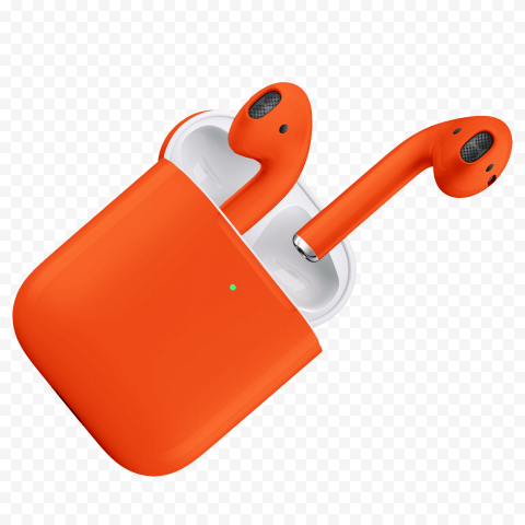 Orange Two Pairs Apple Airpods With Open Box