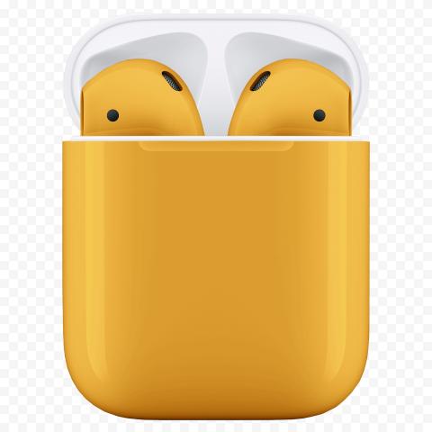 Dark Yellow Apple Airpods 2 Generation Box