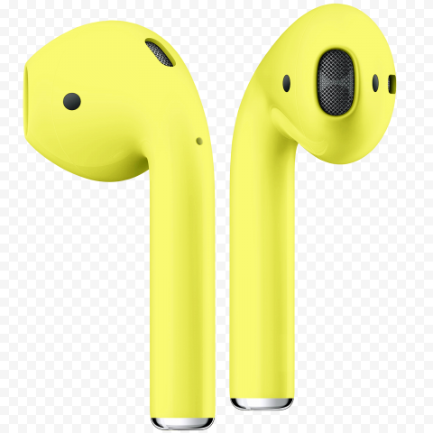 Yellow Fluo Apple Airpods 2 Generation