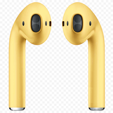 Apple Airpods 2 Generation Mustard Color