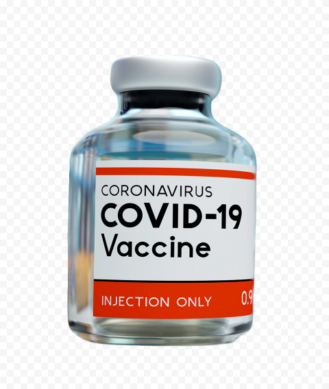 COVID 19 Coronavirus Vaccine Bottle With Liquid