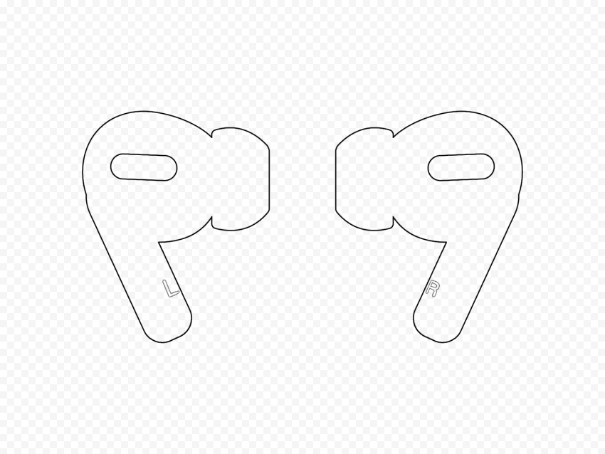 AirPods Pro Black Line Style Icon